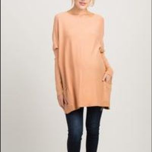 Pinkblush Peach Pocketed Sleeve Top